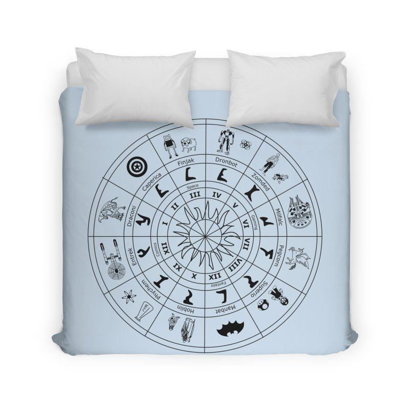 Nerd Zodiac - Black Home Duvet by Trybyk Art