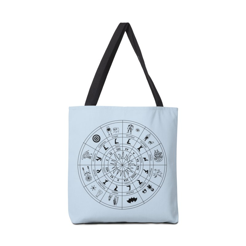 Nerd Zodiac - Black Accessories Bag by Trybyk Art