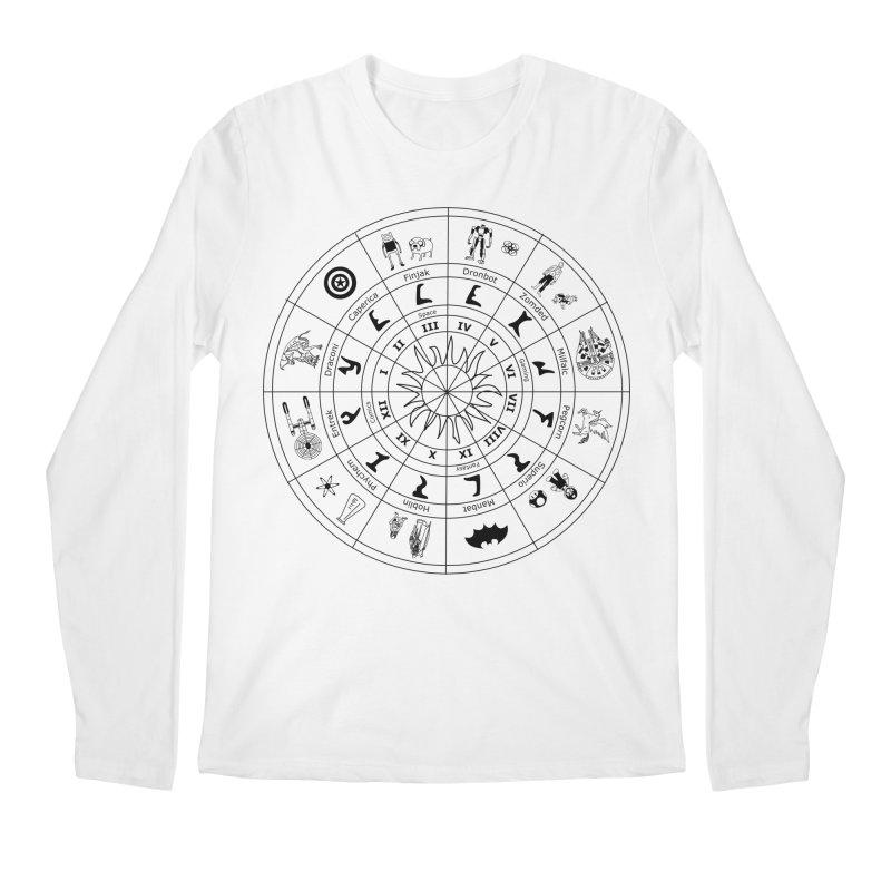 Nerd Zodiac - Black Men's Longsleeve T-Shirt by Trybyk Art