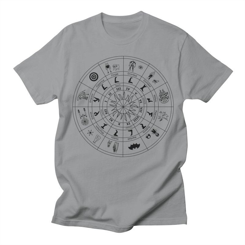 Nerd Zodiac - Black Men's T-shirt by Trybyk Art