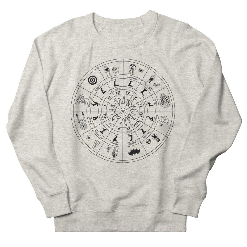 Nerd Zodiac - Black Men's Sweatshirt by Trybyk Art