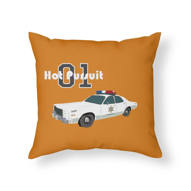 Hot Pursuit Home Throw Pillow by Trybyk Art