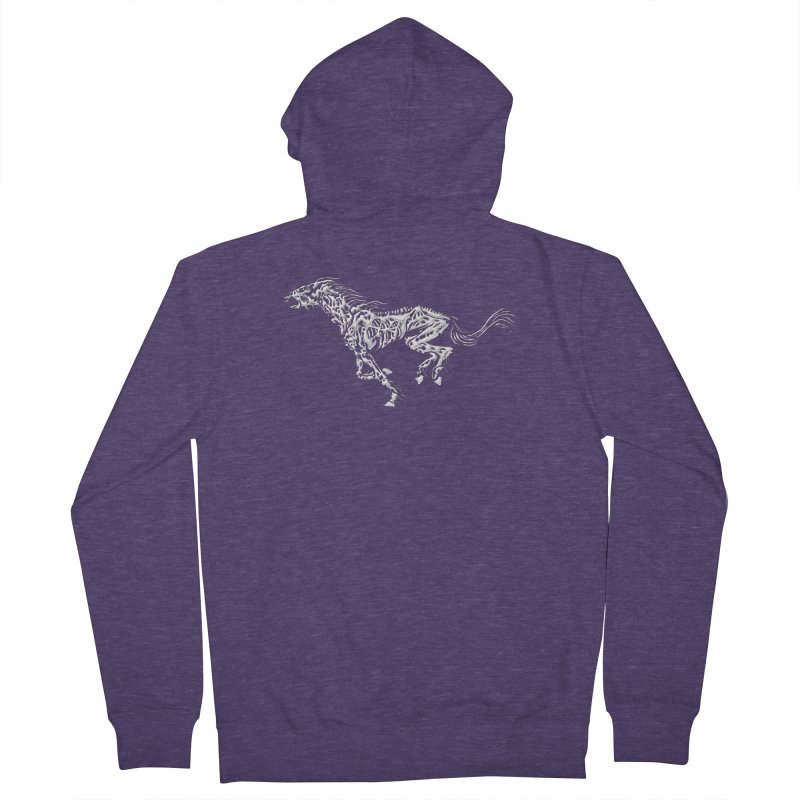 Death Horse Men's Zip-Up Hoody by Trybyk Art