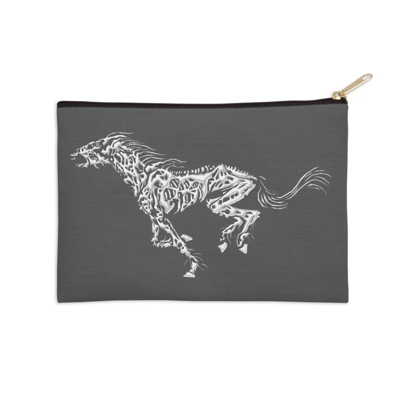 Death Horse Accessories Zip Pouch by Trybyk Art