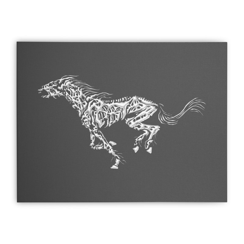 Death Horse Home Stretched Canvas by Trybyk Art