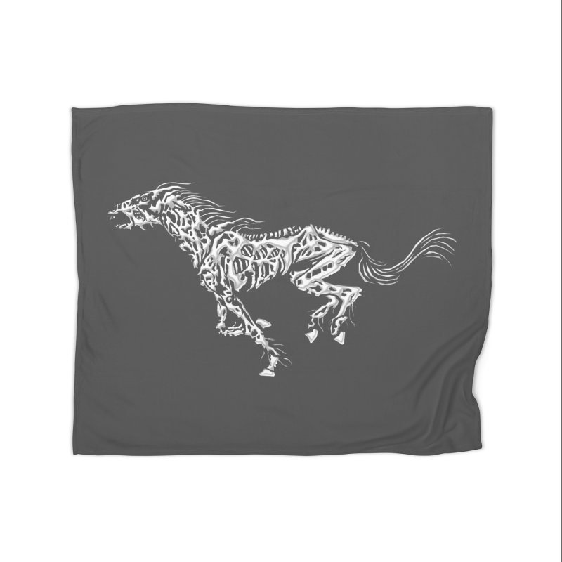 Death Horse Home Blanket by Trybyk Art