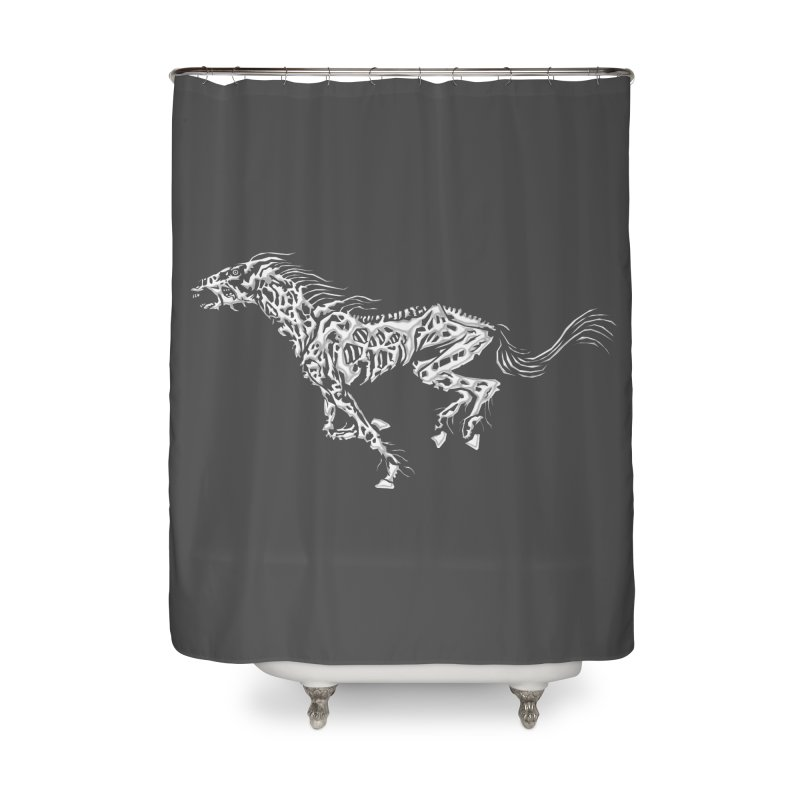 Death Horse Home Shower Curtain by Trybyk Art