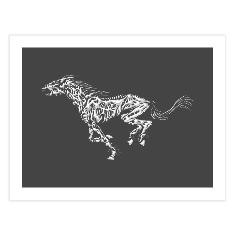 Death Horse Home Fine Art Print by Trybyk Art