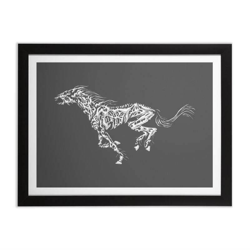 Death Horse Home Framed Fine Art Print by Trybyk Art