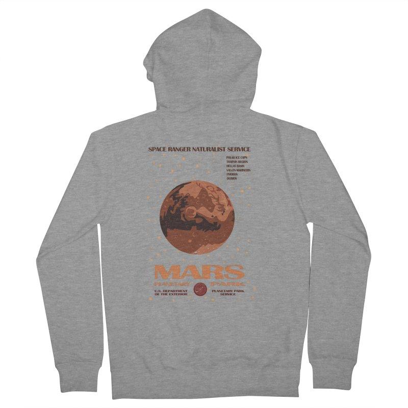 Mars Men's Zip-Up Hoody by Trybyk Art