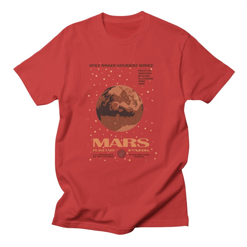 Mars in Men's T-Shirt Red by Trybyk Art