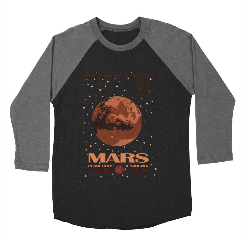 Mars Men's Baseball Triblend T-Shirt by Trybyk Art
