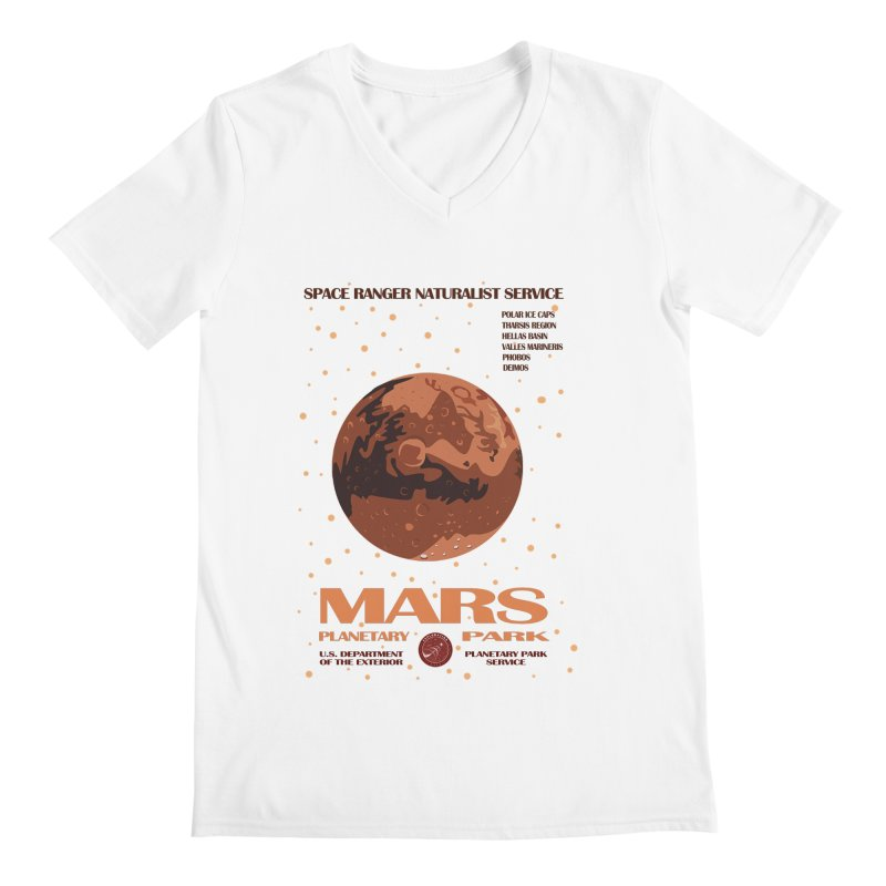 Mars Men's V-Neck by Trybyk Art