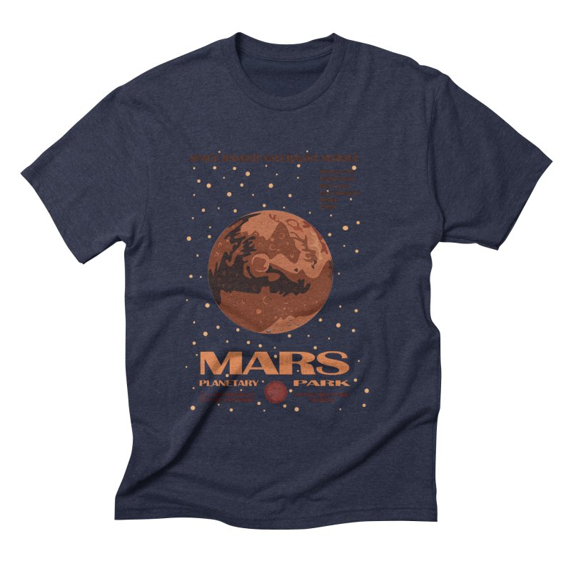 Mars Men's Triblend T-shirt by Trybyk Art