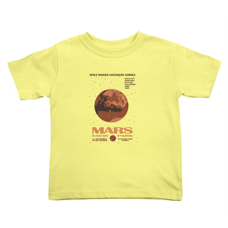 Mars Kids Toddler T-Shirt by Trybyk Art