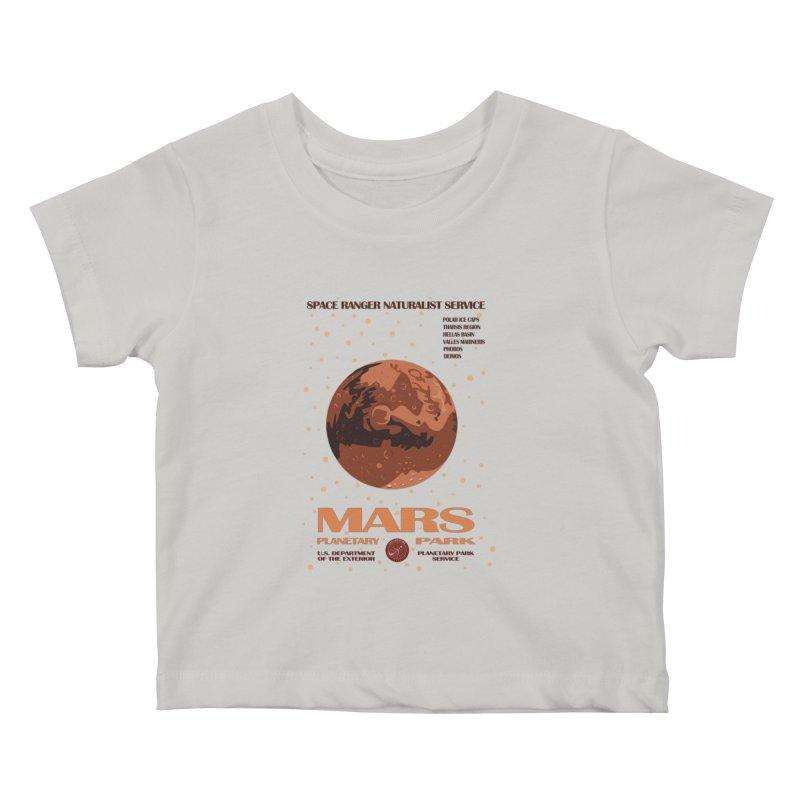Mars Kids Baby T-Shirt by Trybyk Art
