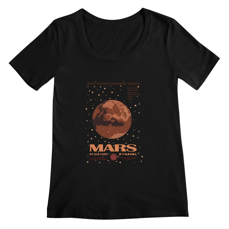 Mars Women's Scoopneck by Trybyk Art
