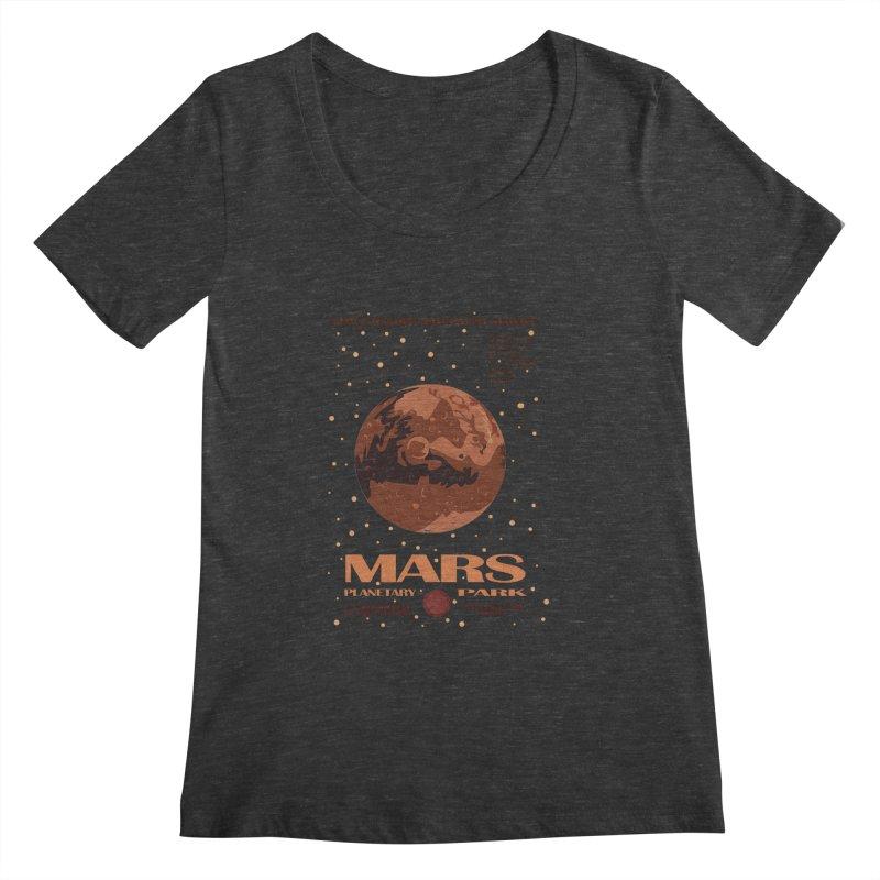 Mars Women's Scoopneck by Trybyk Art