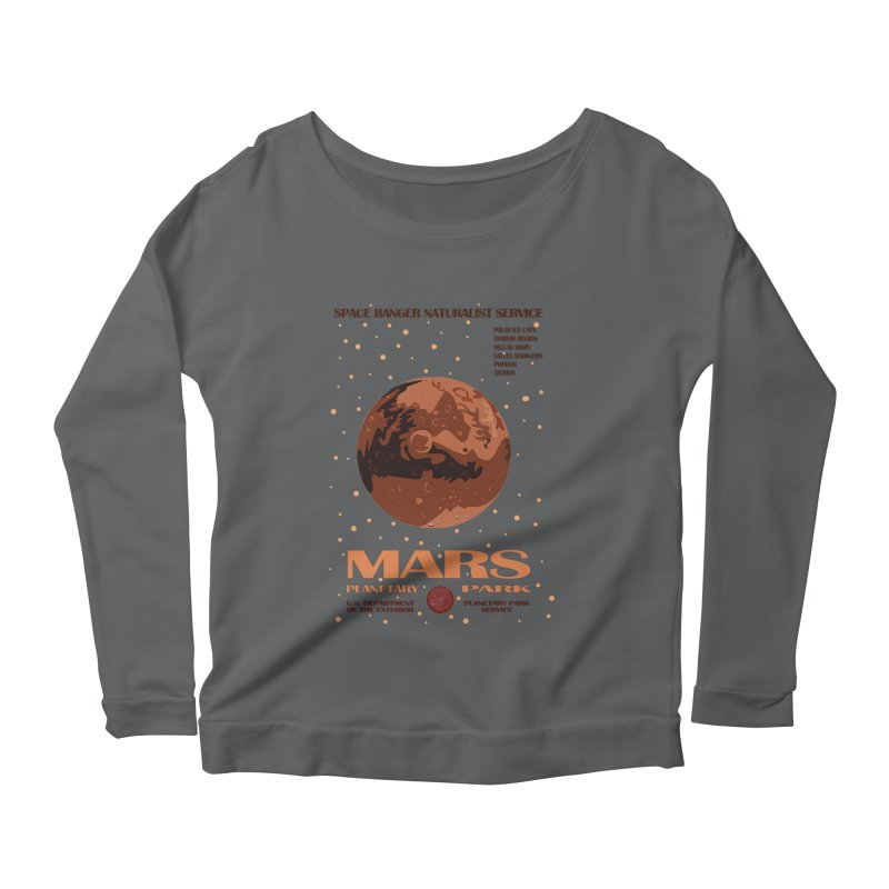 Mars Women's Longsleeve Scoopneck  by Trybyk Art