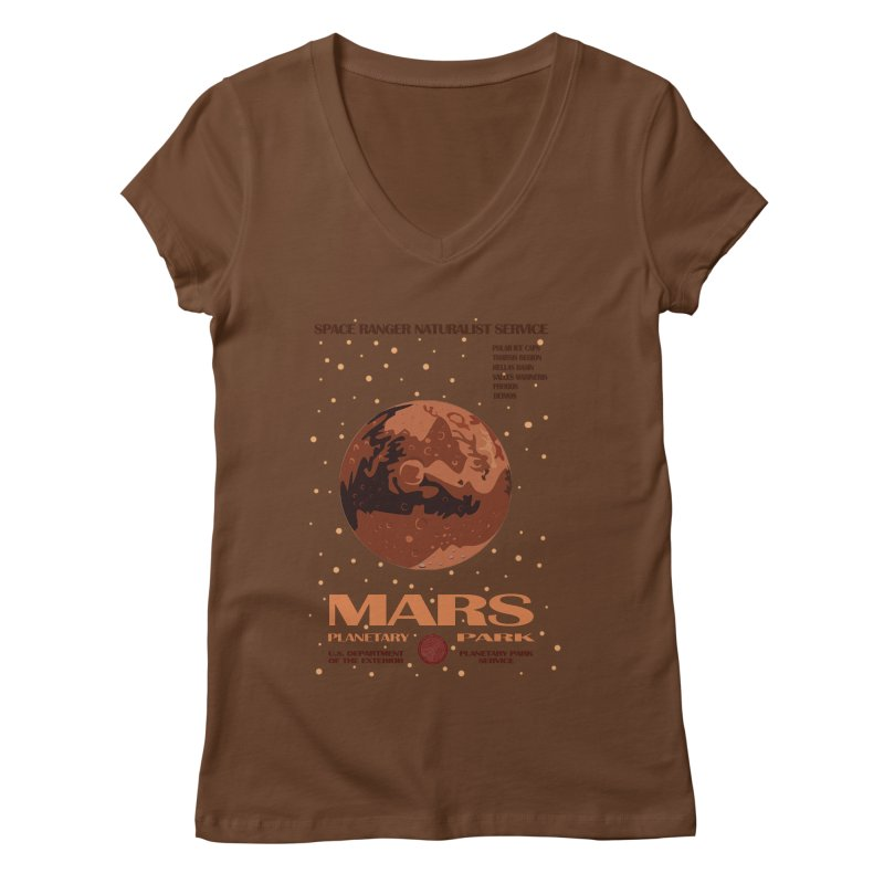 Mars Women's V-Neck by Trybyk Art