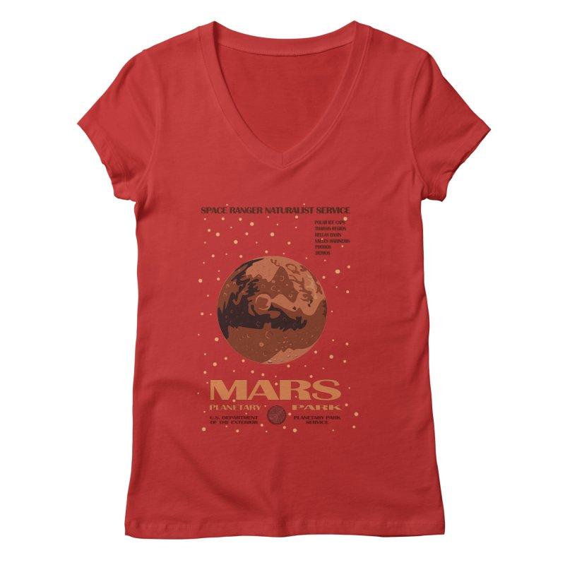 Mars Women's V-Neck by Trybyk Art