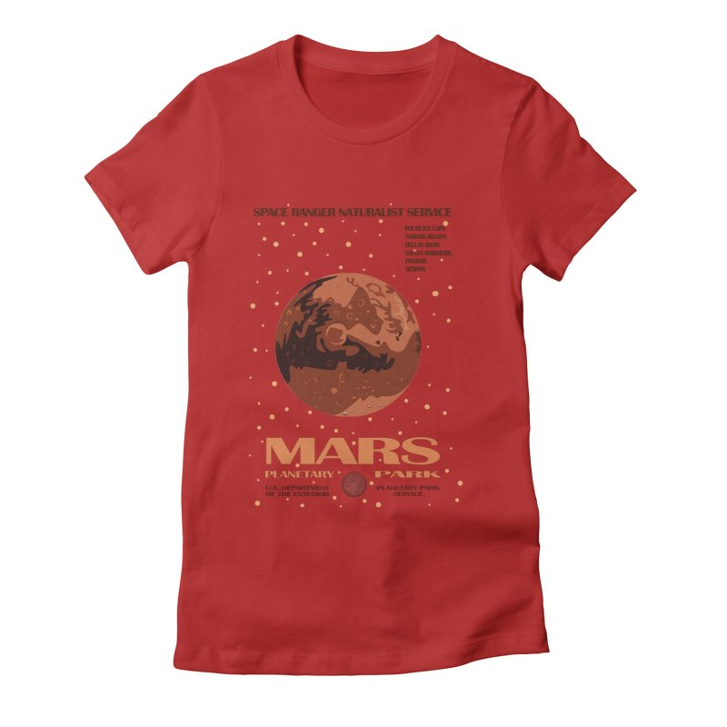 Mars Women's Fitted T-Shirt by Trybyk Art