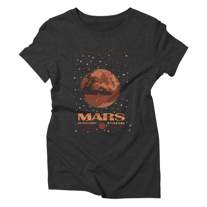 Mars Women's Triblend T-shirt by Trybyk Art