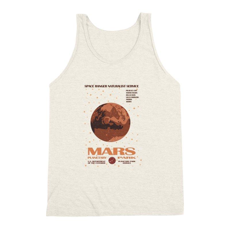 Mars Men's Triblend Tank by Trybyk Art