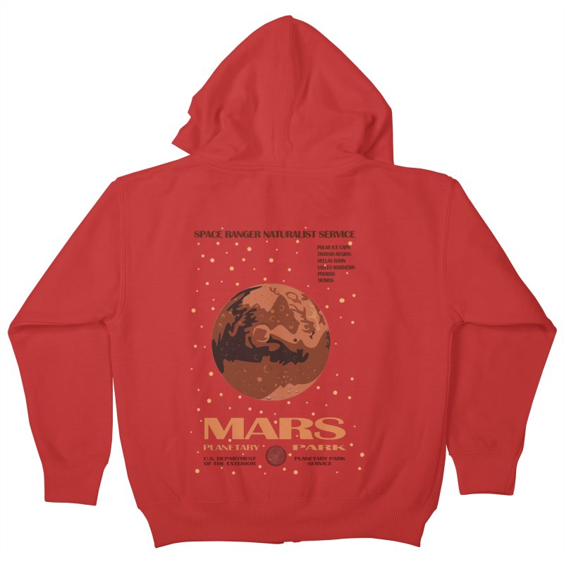 Mars Kids Zip-Up Hoody by Trybyk Art