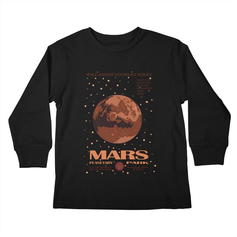 Mars Kids Longsleeve T-Shirt by Trybyk Art