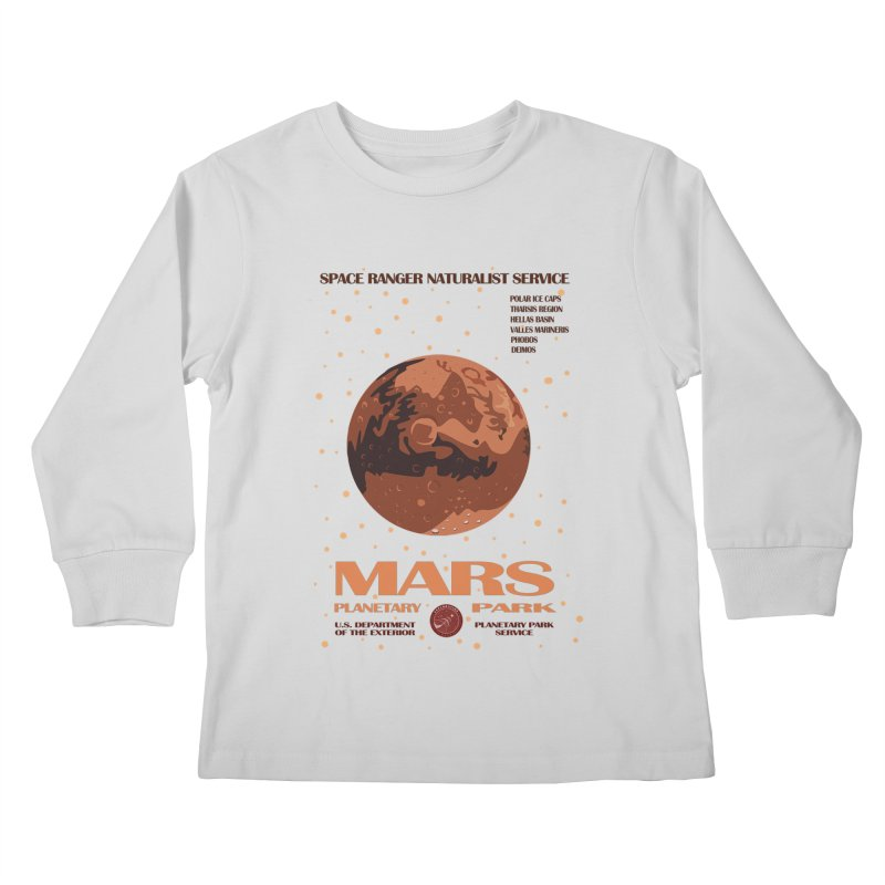 Mars Kids Longsleeve T-Shirt by Trybyk Art