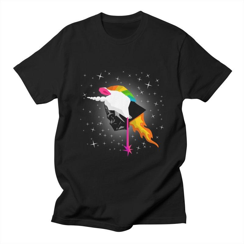 Flaming Vadercorn Men's T-Shirt by Trybyk Art