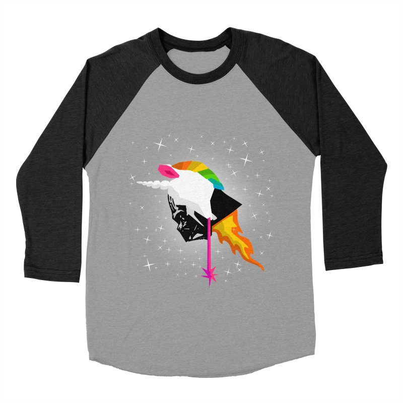 Flaming Vadercorn Men's Baseball Triblend T-Shirt by Trybyk Art