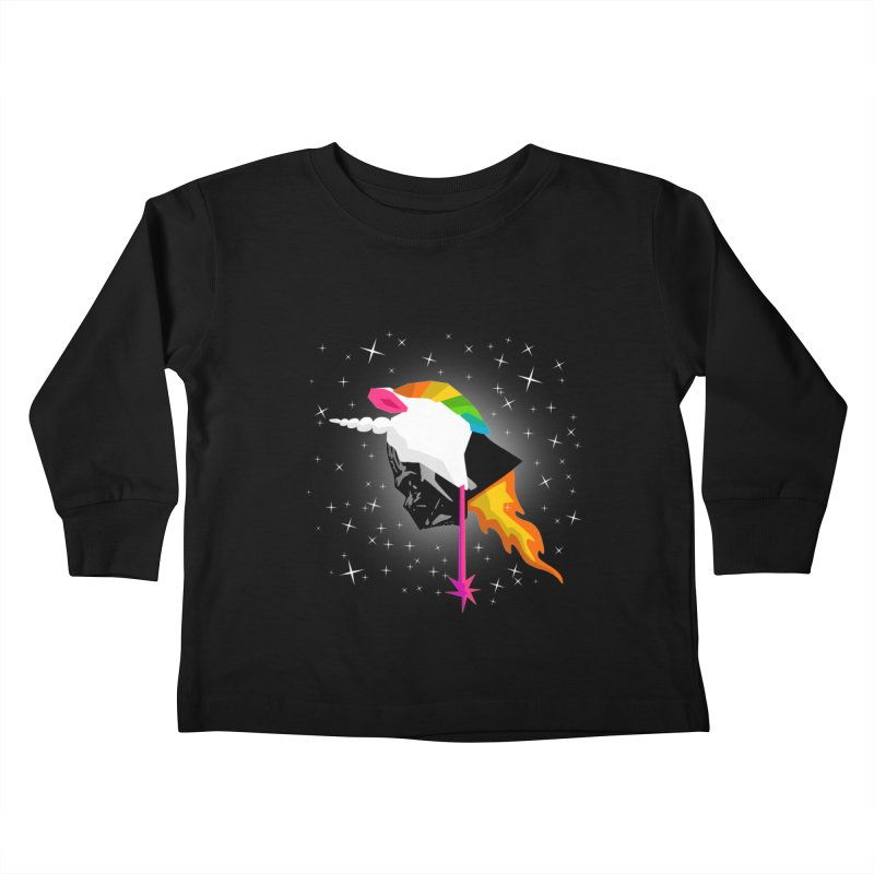 Flaming Vadercorn Kids Toddler Longsleeve T-Shirt by Trybyk Art