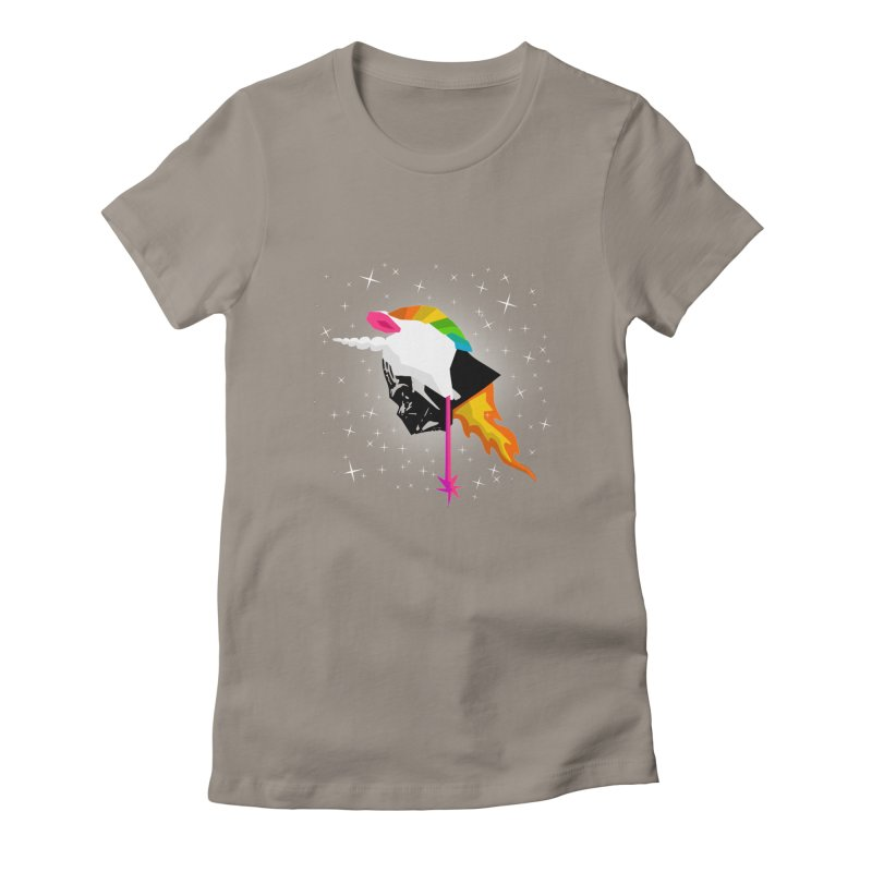Flaming Vadercorn Women's Fitted T-Shirt by Trybyk Art