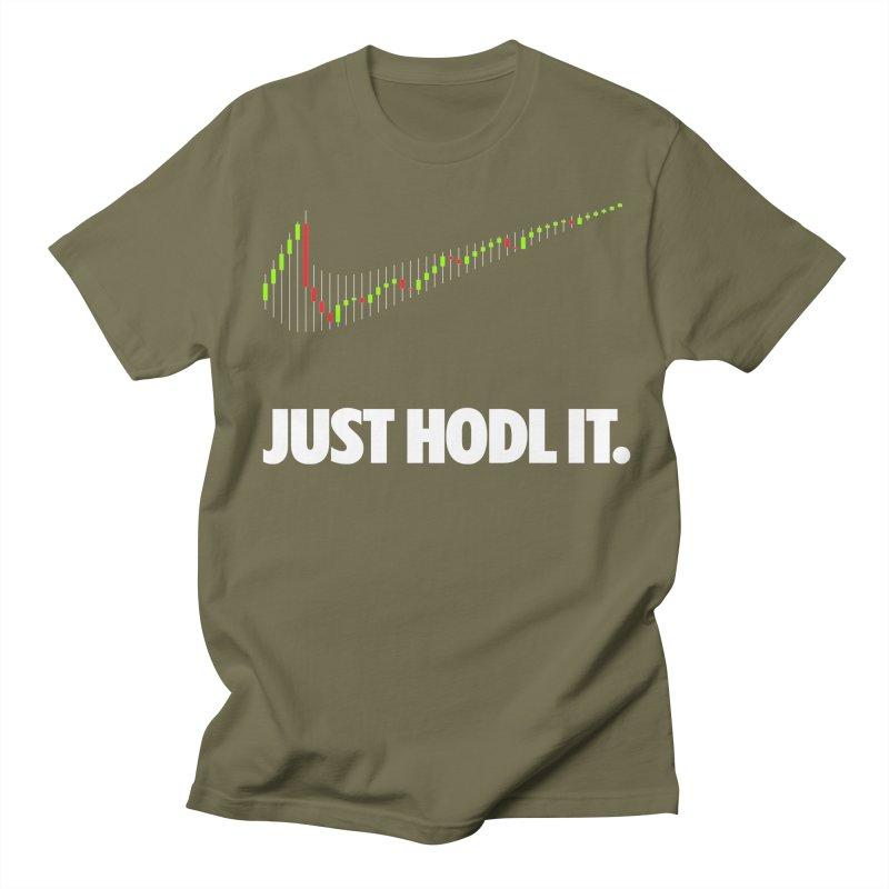 Just Hodl it Men's T-Shirt by tryingtodoart's Artist Shop
