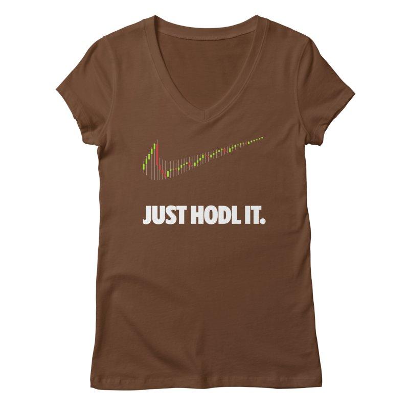 Just Hodl it Women's Regular V-Neck by tryingtodoart's Artist Shop