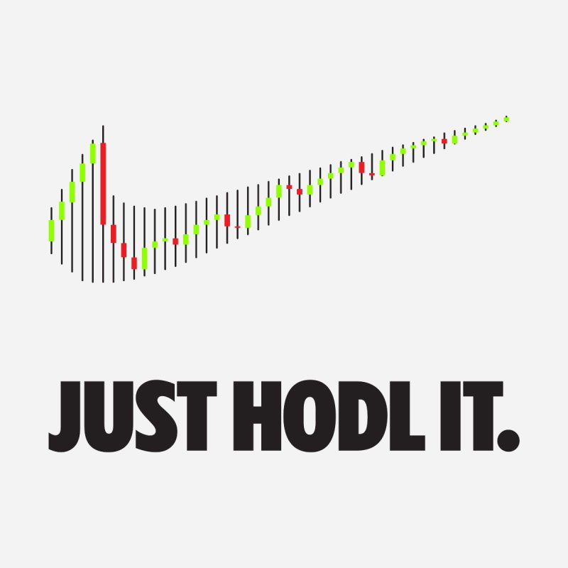 Just Hodl It  Men's Longsleeve T-Shirt by tryingtodoart's Artist Shop