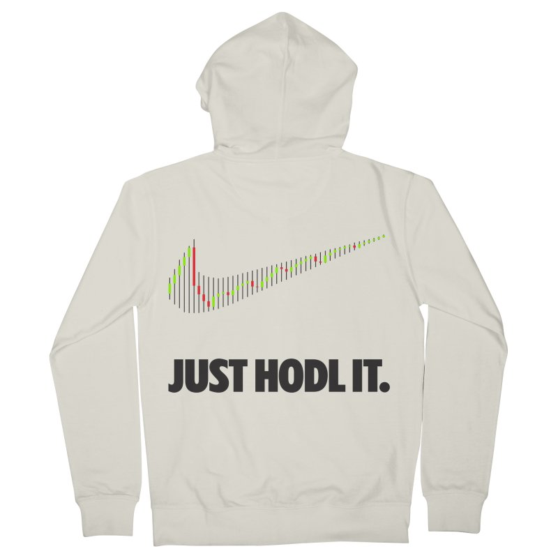 Just Hodl It  Men's French Terry Zip-Up Hoody by tryingtodoart's Artist Shop