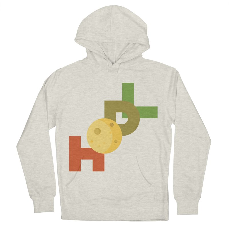 Hodl to the moon Women's French Terry Pullover Hoody by tryingtodoart's Artist Shop