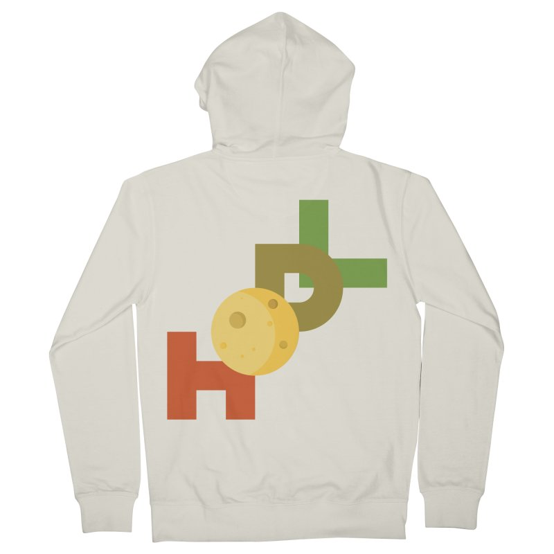 Hodl to the moon Women's French Terry Zip-Up Hoody by tryingtodoart's Artist Shop