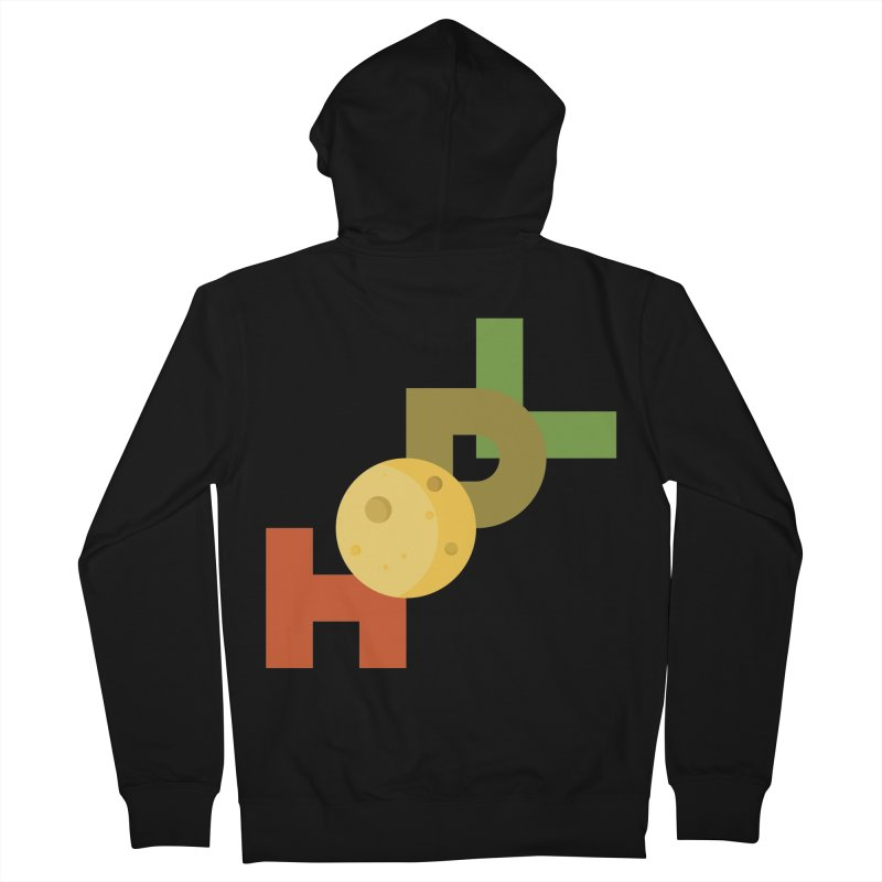 Hodl to the moon Men's French Terry Zip-Up Hoody by tryingtodoart's Artist Shop
