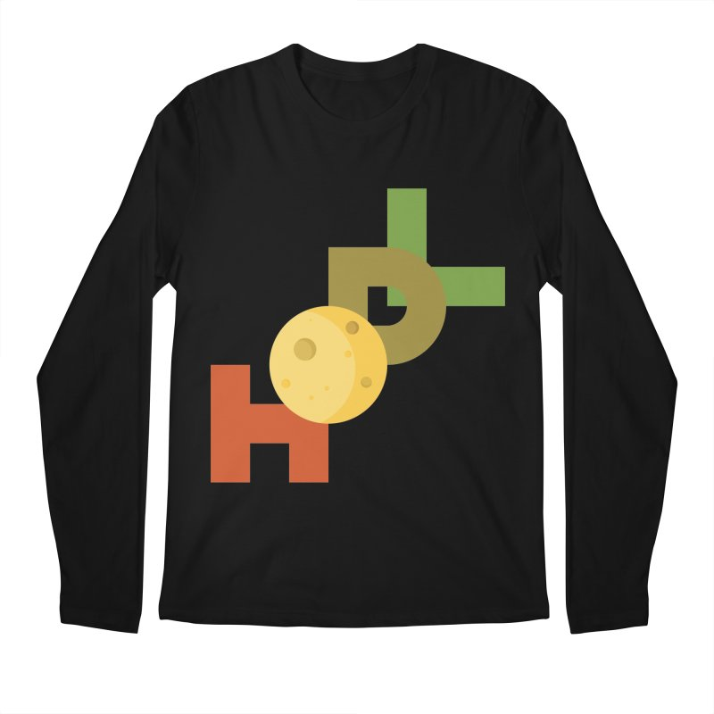 Hodl to the moon Men's Regular Longsleeve T-Shirt by tryingtodoart's Artist Shop