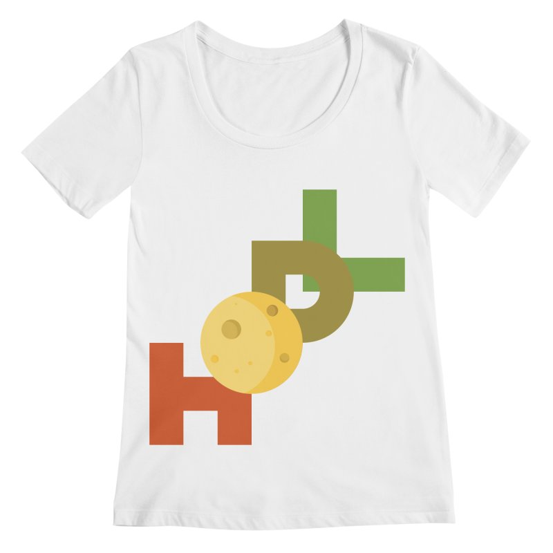 Hodl to the moon Women's Regular Scoop Neck by tryingtodoart's Artist Shop