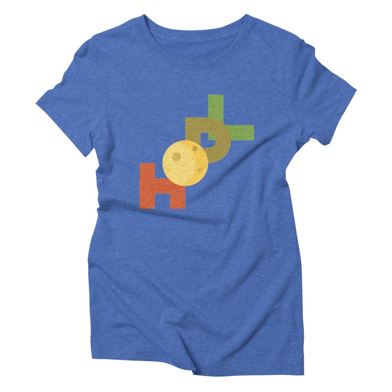 Hodl to the moon Women's Triblend T-Shirt by tryingtodoart's Artist Shop