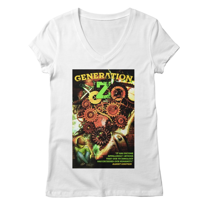 Generation Z Women's V-Neck by tsg's artist shop