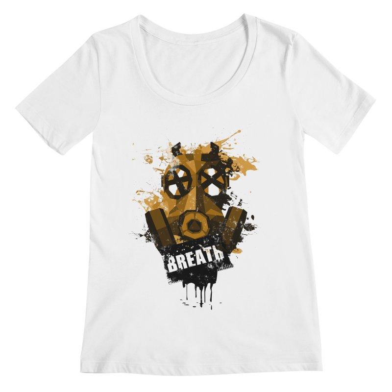 Breath! Women's Scoopneck by tsg's artist shop