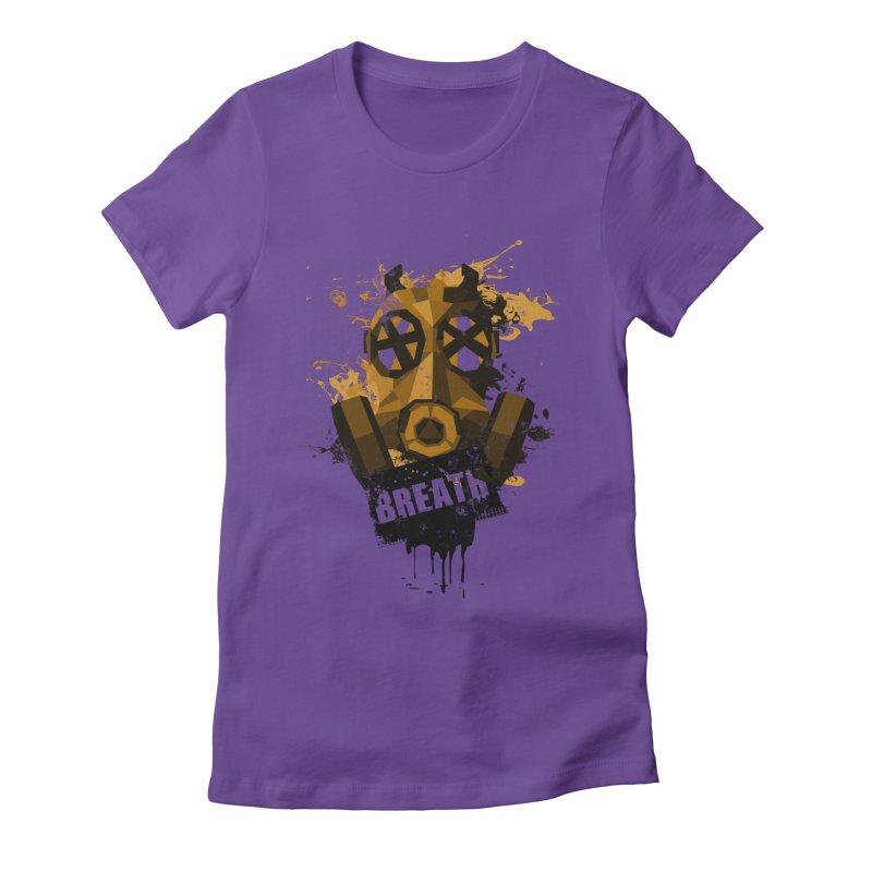 Breath! Women's Fitted T-Shirt by tsg's artist shop