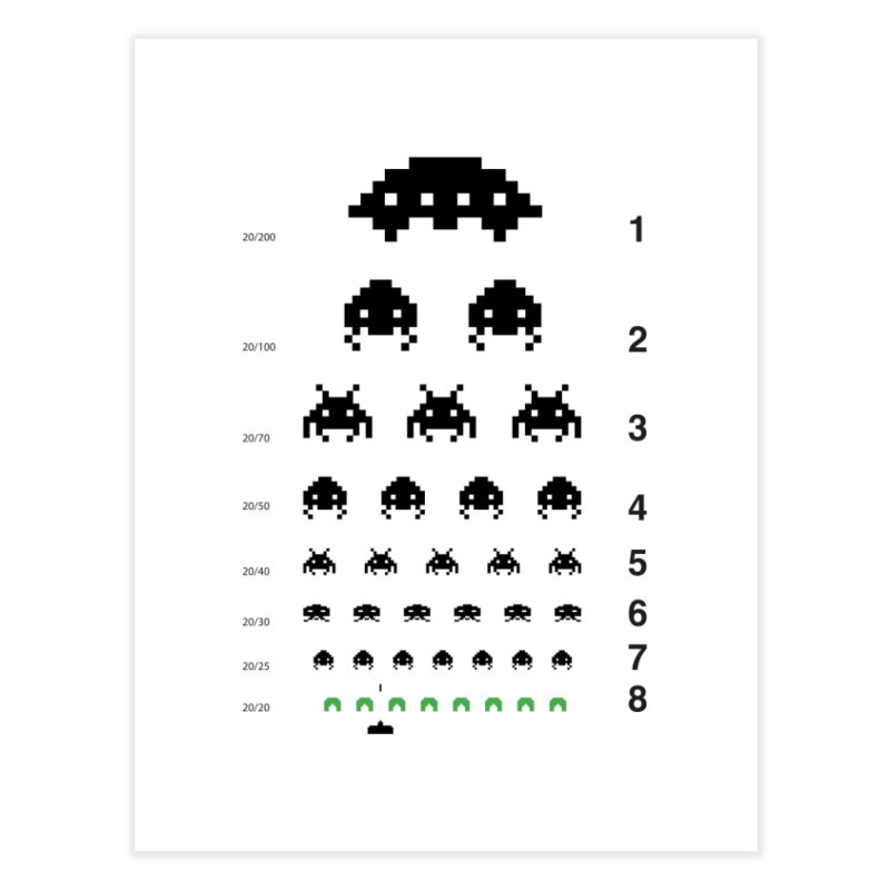 Gamers   Eye Test Home Fine Art Print by tshirtbaba's Artist Shop