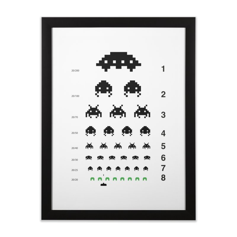 Gamers   Eye Test Home Framed Fine Art Print by tshirtbaba's Artist Shop